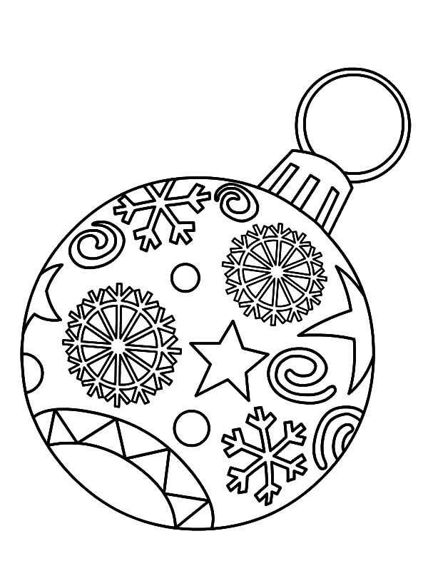 Light Bulb Christmas Ornament Coloring Pages PagesFull