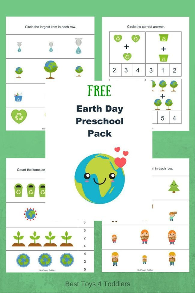free earth day printable pack for preschoolers best toys 4 toddlers earth day earth day. Black Bedroom Furniture Sets. Home Design Ideas