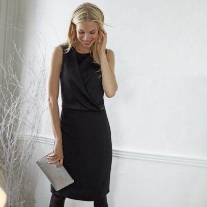 Drape Front Dress | The White Company