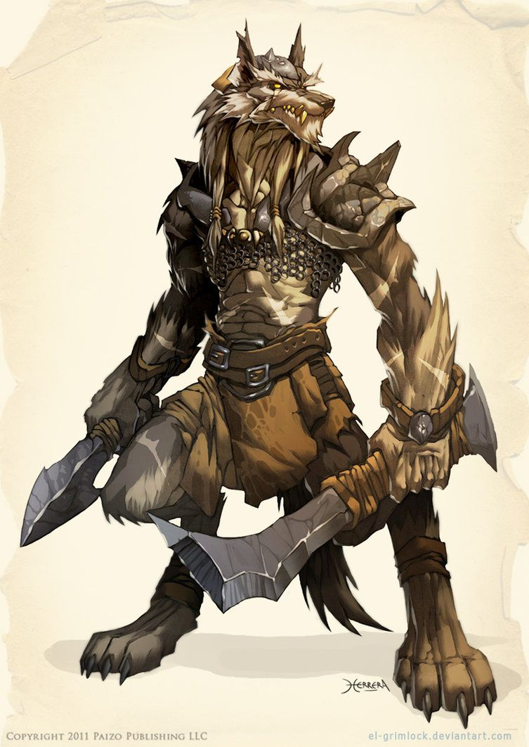 WOLF Warrior by el-grimlock --- Woof Monsters have been spotted at www.MillionMonsterPicnic.com #monsterpicnic