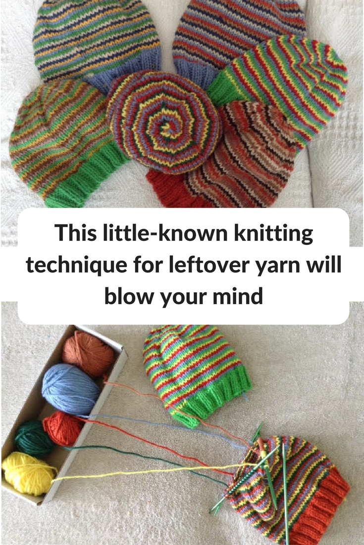 This Little-Known Knitting Technique for Leftover Yarn Will Blow ...