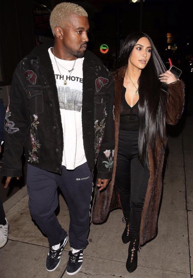01bca07cb Kanye West Goes Out With Kim Kardashian Wearing Gucci Jacket