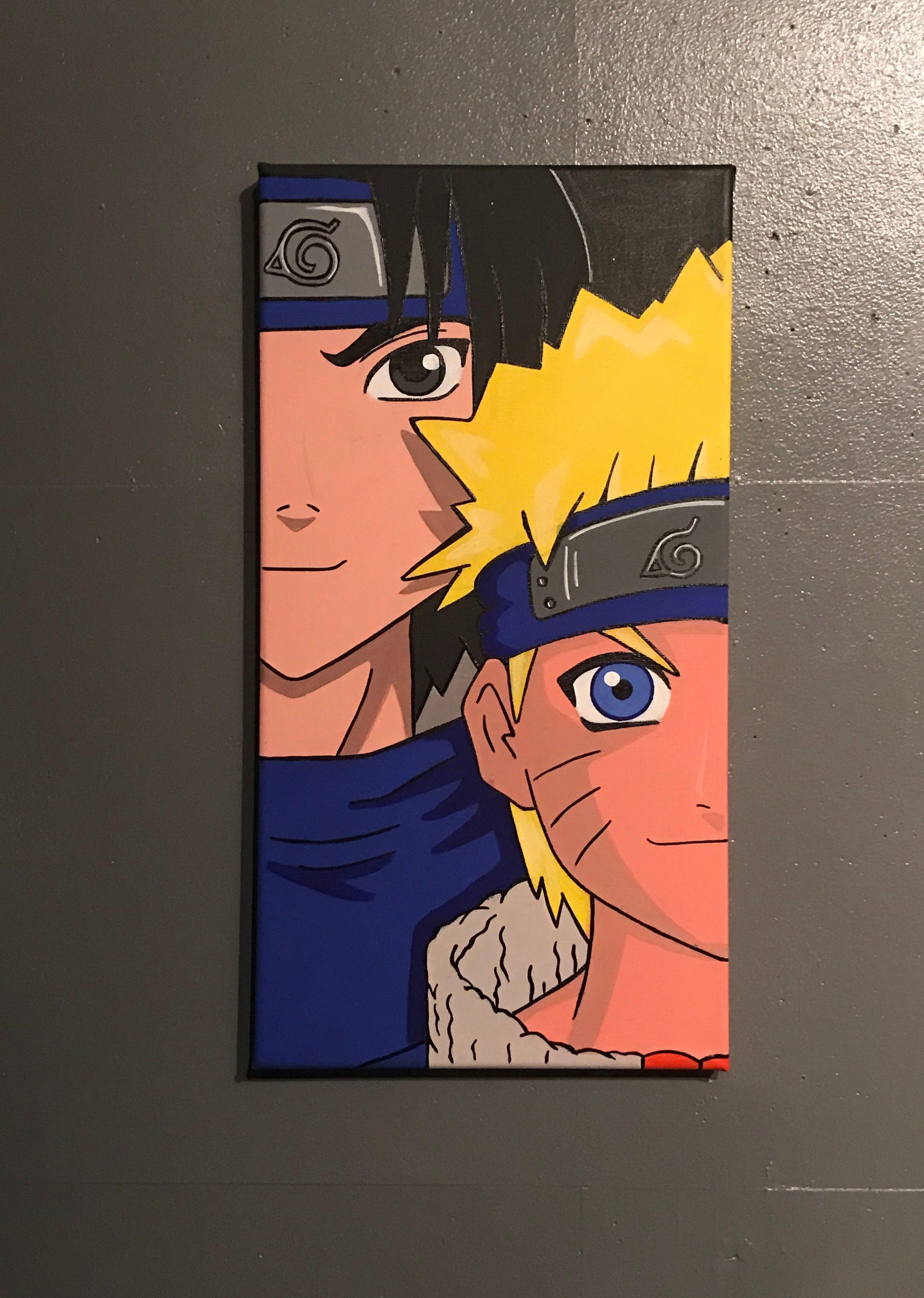 Naruto Double Canvas Anime Art Mini Small