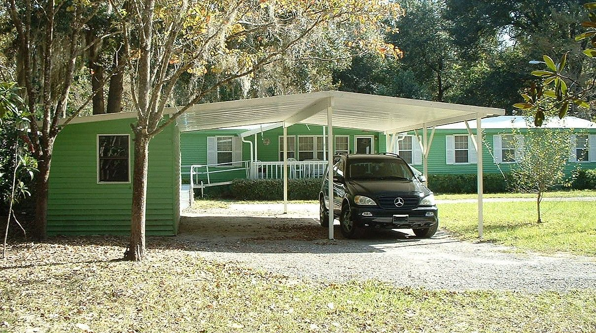 2 Car Carport With Storage Building. Gainesville, Florida. Double Wide  Mobile Home