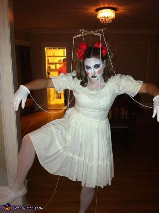 marionette doll halloween costume contest via costumeworks - How To Make A Doll Costume For Halloween