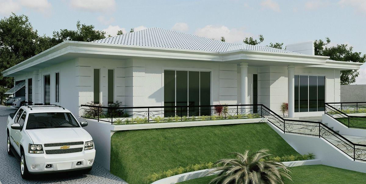Casa 3 rea do projeto espa o ocupado pelo for Casa moderna de 7 00m x 15 00m
