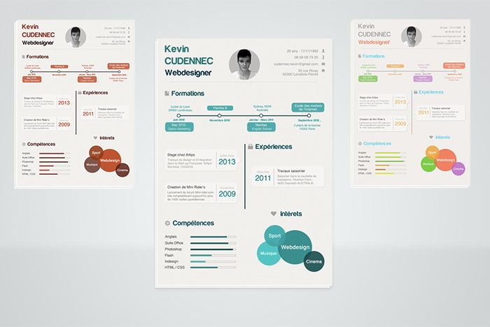 Free  Beautiful Resume Templates To Download  Bewerbung Ideen