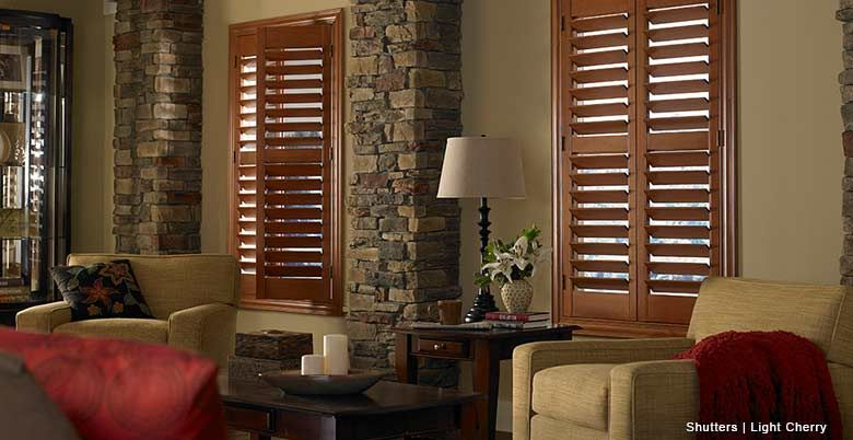 Wooden shutters from day blinds i love the mix of the wood