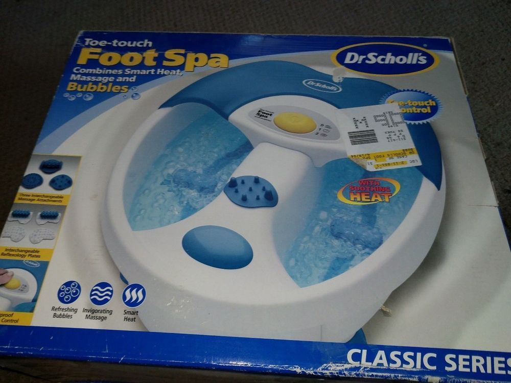Dr Scholls toe touch bubbles Soothing Rolling Massage Foot bath Spa ...