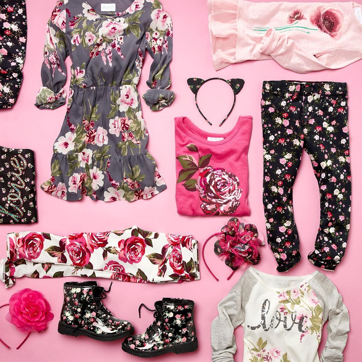 b37b42275e Girls' fashion | Kids' clothes | Floral print | Top | Dress ...