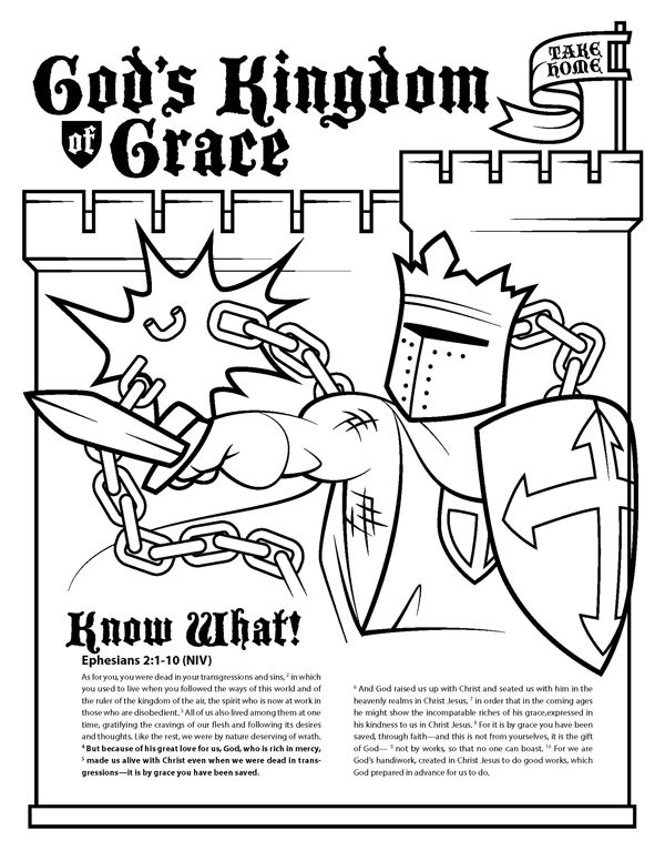 God S Kingdom Of Grace Ephesians 2 1 10 With Maze Activity Sheet