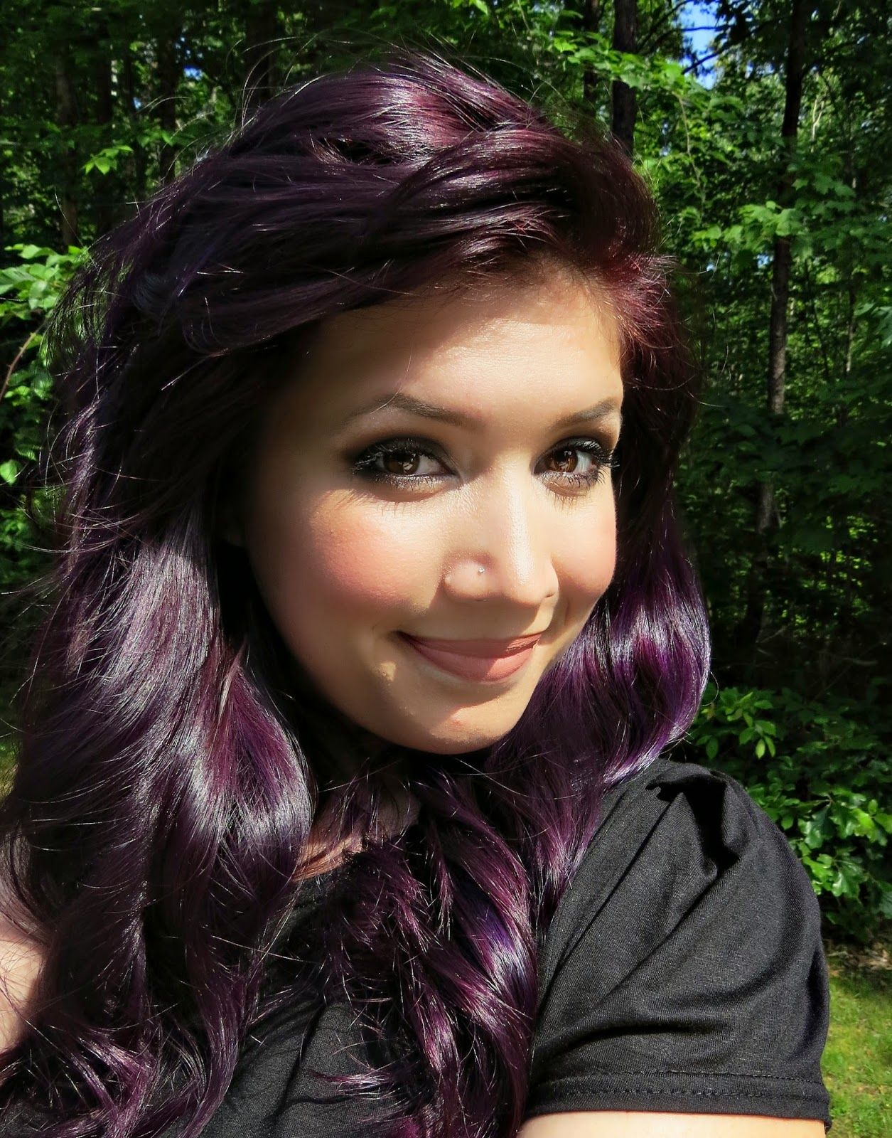 How To Dye Your Hair Purple Hair Color Purple Dark Purple Hair Color Dark Purple Hair