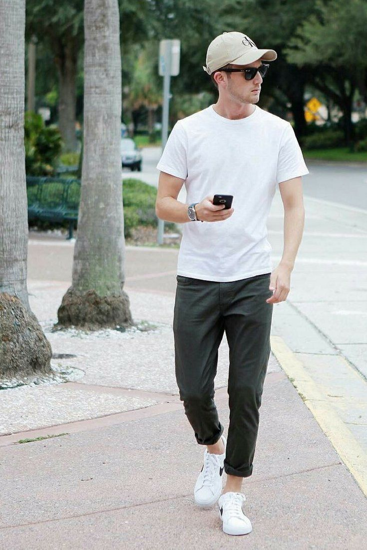 7 Casual Outfits In White T Shirt For Guys Men S Street Style