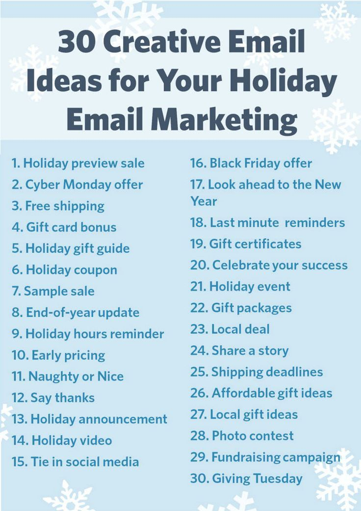 Creative Ideas For Your Holiday Email Marketing  Business