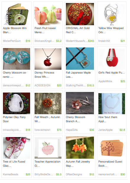'Apple Blossom Autumn' by KittycatSarah  Pretty Little Things – Etsy Treasury's http://janesapple.com/pretty-little-things-etsy-treasurys/