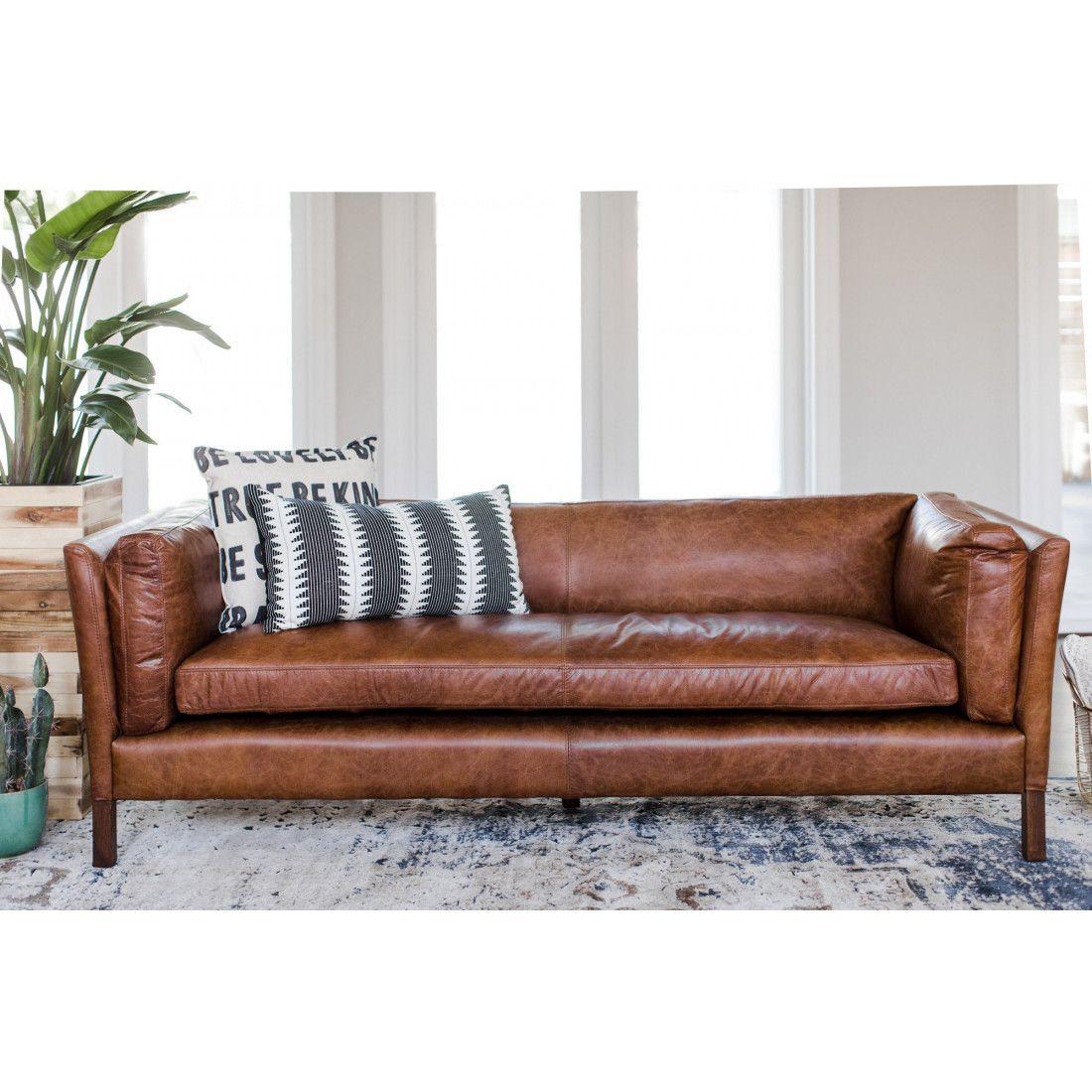 Admirable Finley Leather Sofa Living Room Modern Leather Sofa Inzonedesignstudio Interior Chair Design Inzonedesignstudiocom