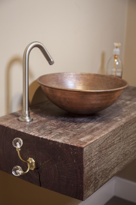 copper basin, build me, interior design, ensuite, bathroom