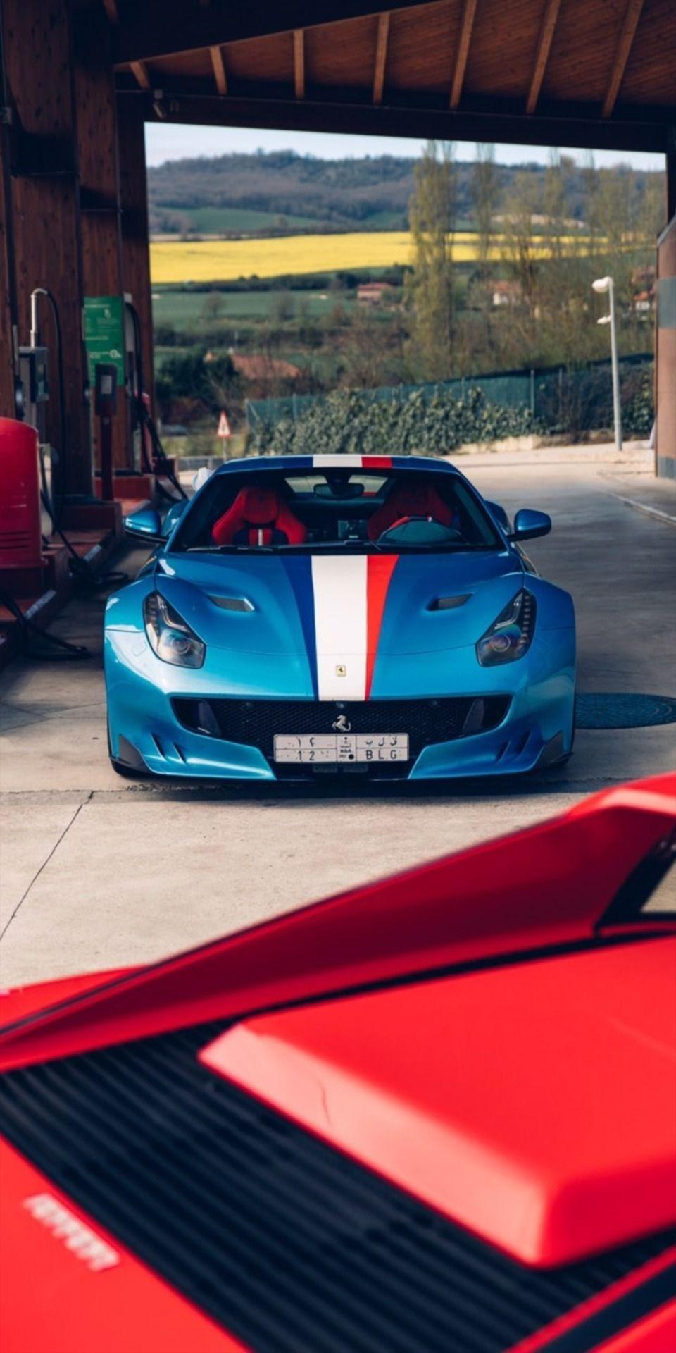 Ferrari F12 Tdf With French Livery Doing A Staredown Ferrari F12