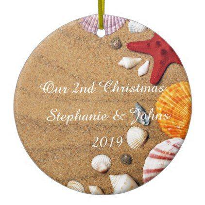 Our Second Christmas Together Coastal Beach 2019 Ceramic ...