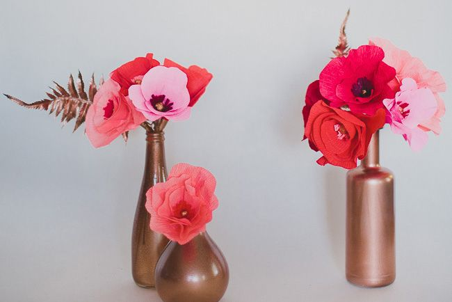 Diy ombre paper flowers paper flower arrangements giant flowers diy ombre paper flowers mightylinksfo