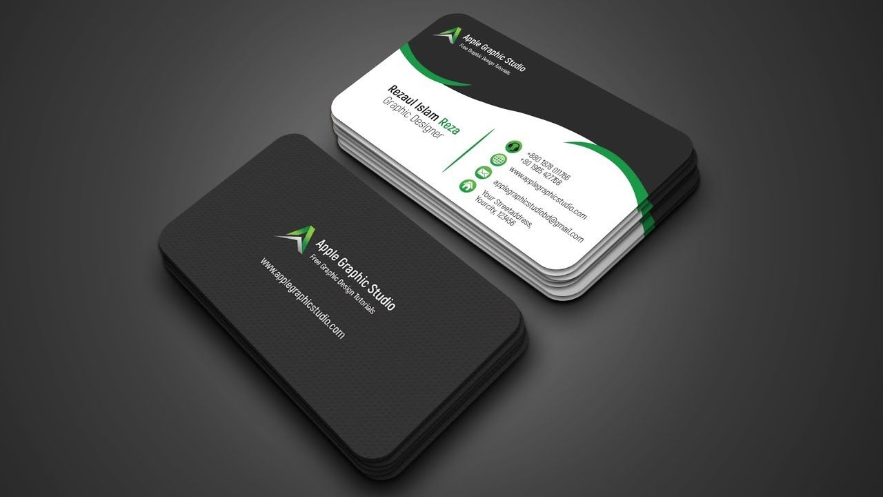 Creative Business Card Design Tutorial in Photoshop | Business Card ...