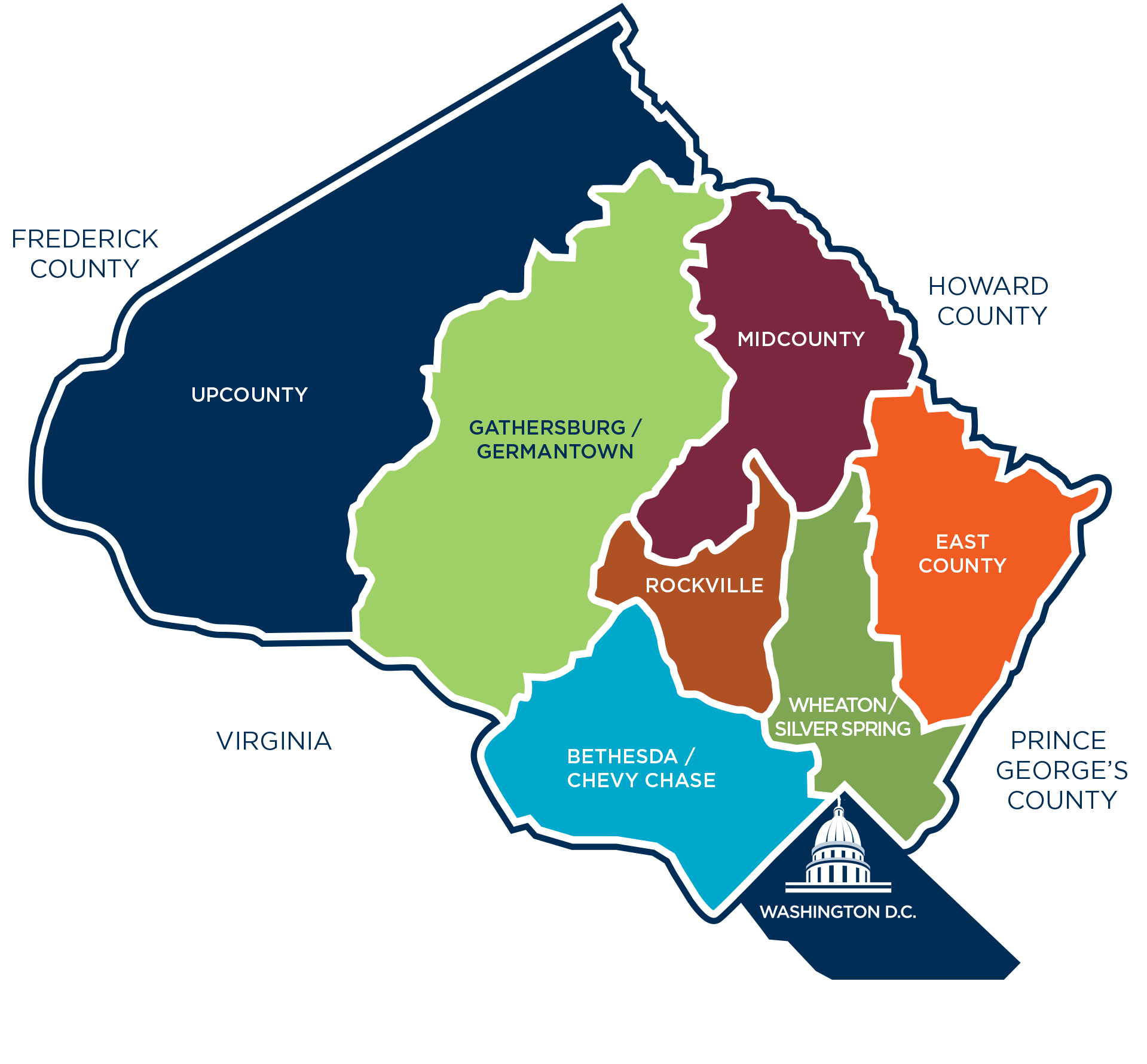 Color Moco Areas Map Image DC Bound Pinterest Montgomery