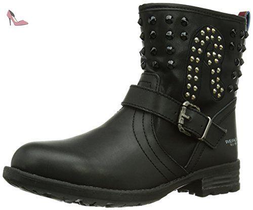 REPLAY Conventry, Boots fille Noir (Black 003), 30 EU