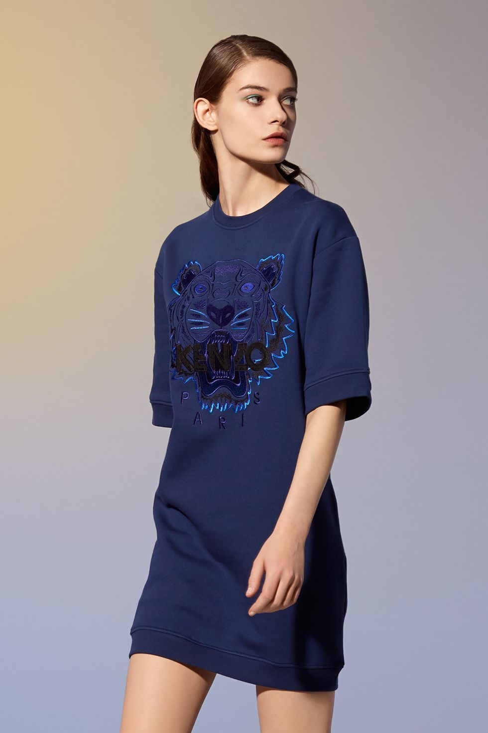 Robe Tiger manches courtes Kenzo - Robes Kenzo Femme - E-Shop Kenzo ... f8c9375a0a24