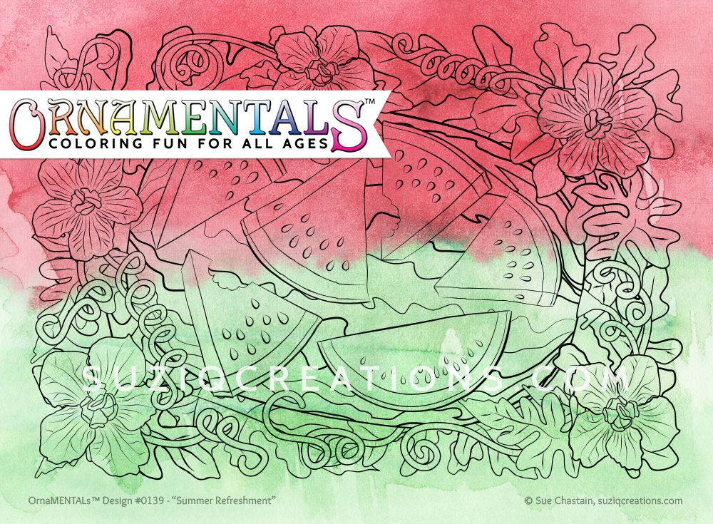 Summer Refreshment Coloring Page Single Cool coloring