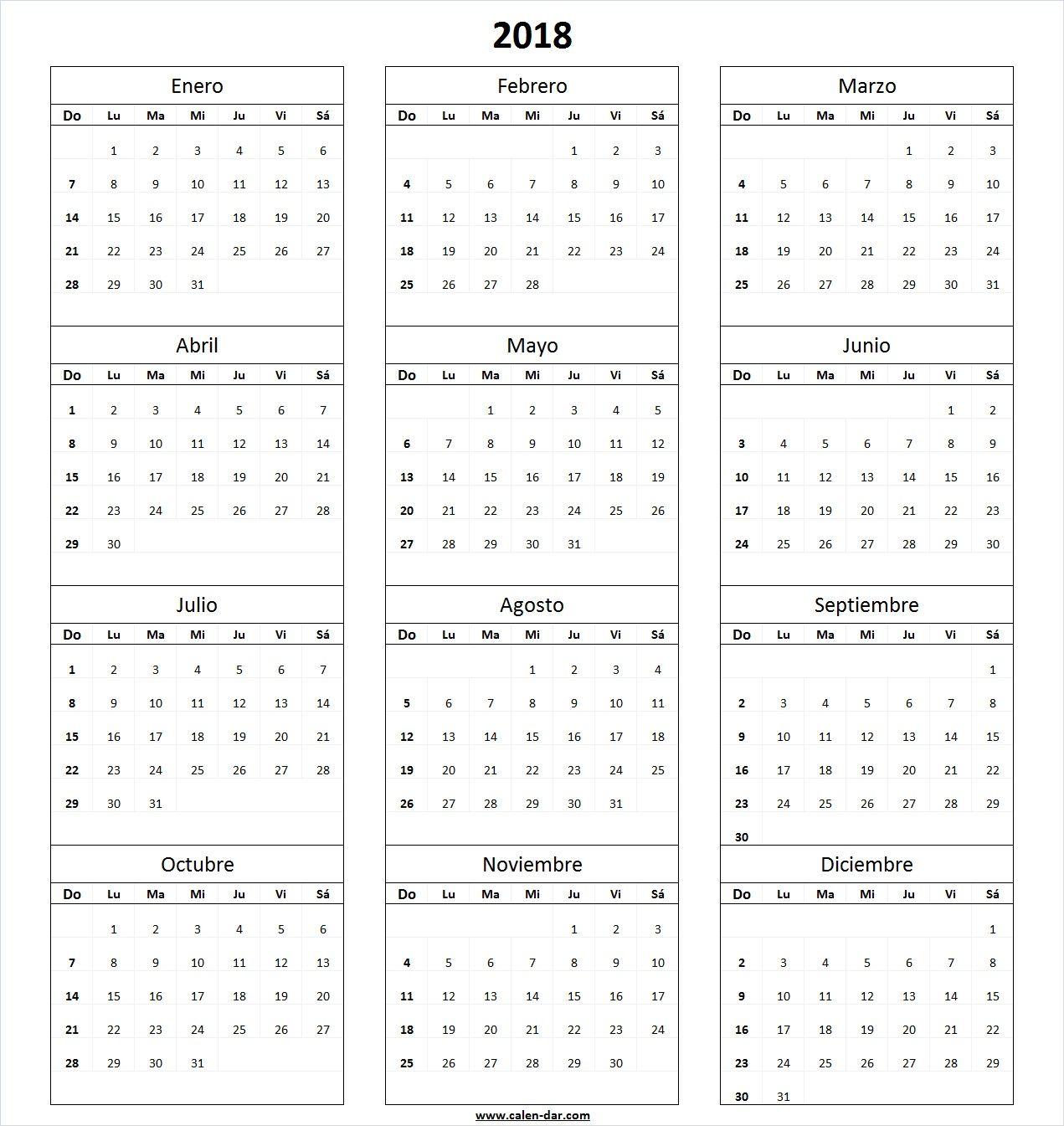 Calendario 2018 Para Imprimir por meses | Proyectos que intentar ...