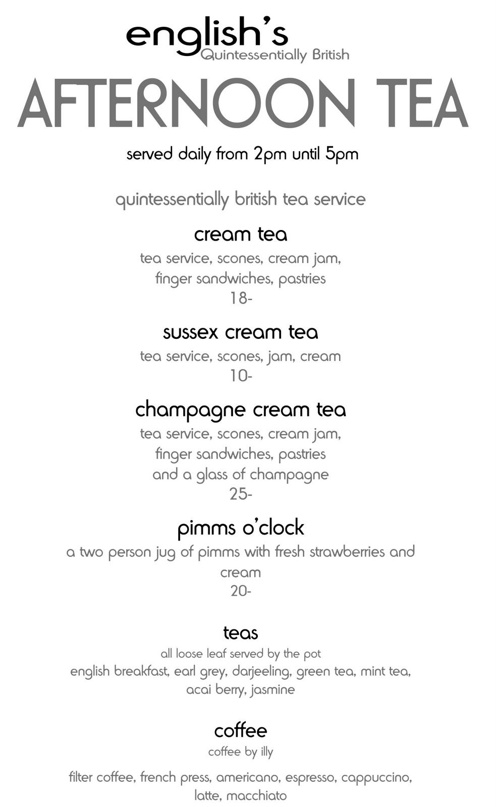 Betty\'s tea rooms menu … | Sara | P…