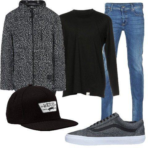 Adidas giubbotto jeans