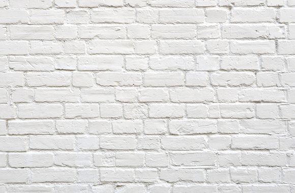 White Brick Dinding Bata Dinding Batu Foto Dinding
