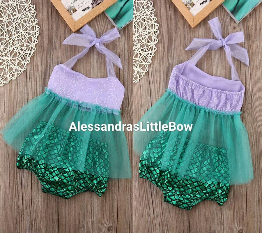 5423a6cc0 mermaid outfitmermaid outfit baby girl first birthday mermaid theme mermaid  romper sunsuit 2 piece little mermaid outfit tutu swing top purple toddler  girls ...