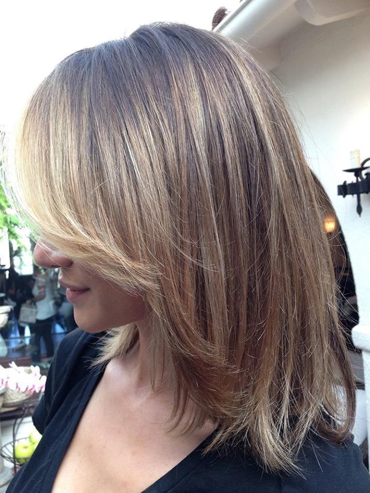 Mittellange haare blonde ombre