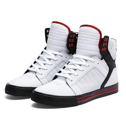 21a6376deaa SUPRA SKYTOP | WHITE / BLACK / RED - BLACK | Official SUPRA Footwear Site