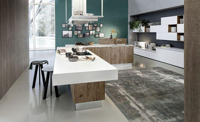 Mobili Divisori Cucina Soggiorno.Parete Centrale Divisoria Open Space Cucina Soggiorno