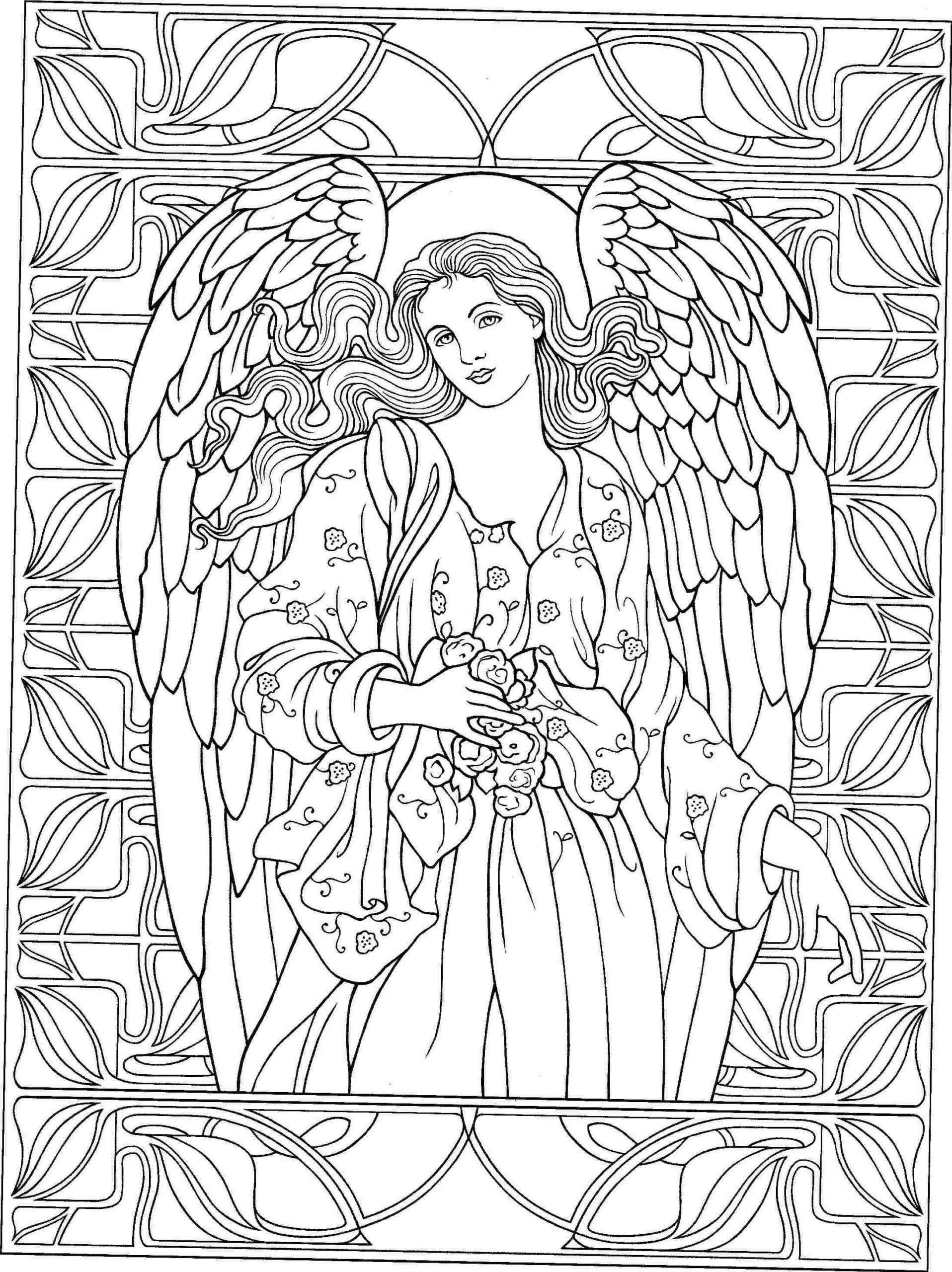 Engel Malbücher für Erwachsene Malvorlagen Engel