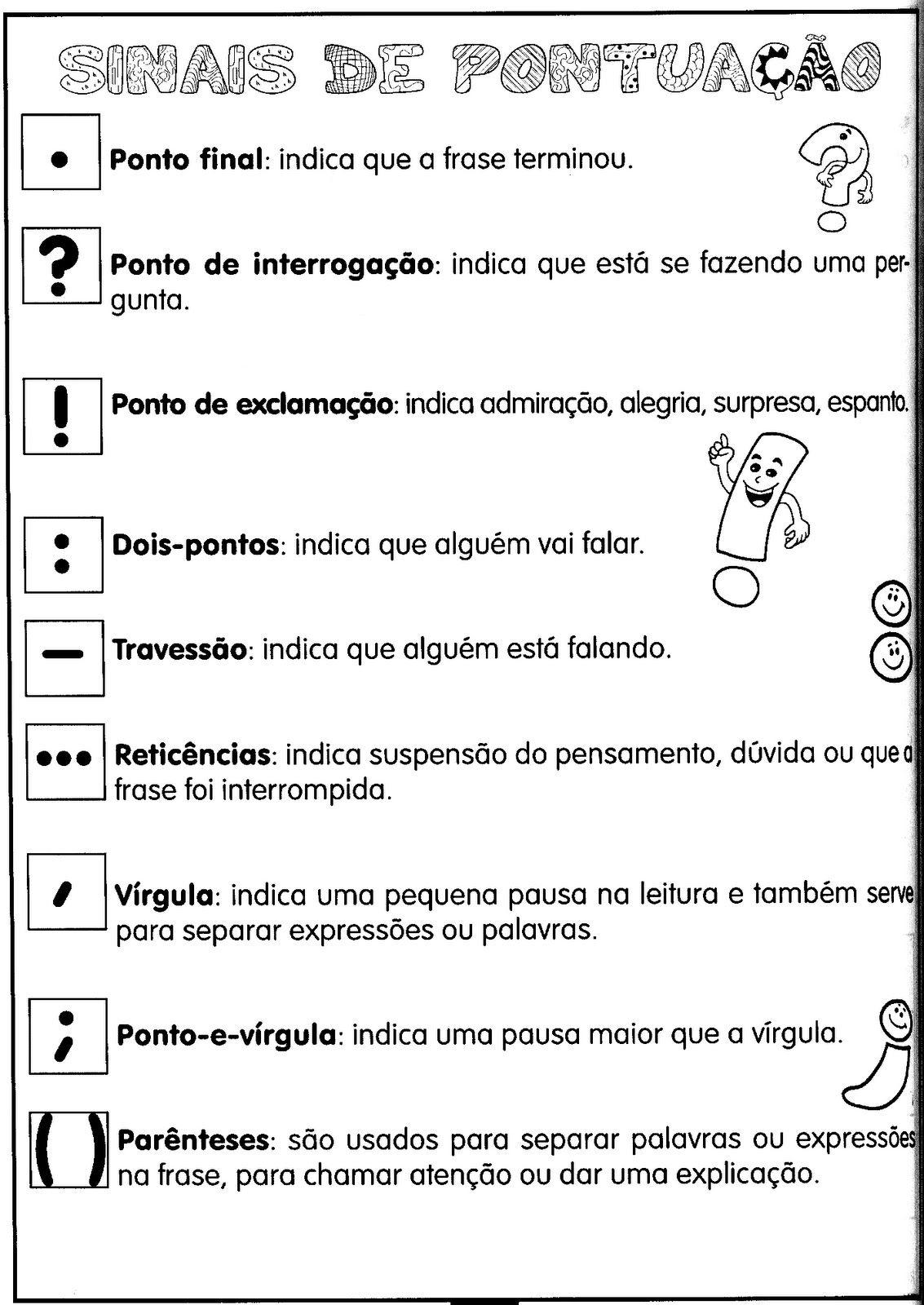 Pontuação Português Education Teaching E English Lessons