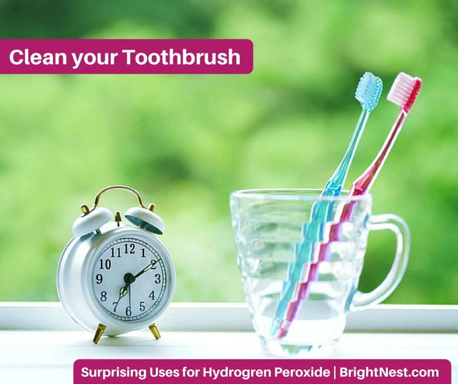 9 Surprising Uses for Hydrogen Peroxide: clean the toothbrush