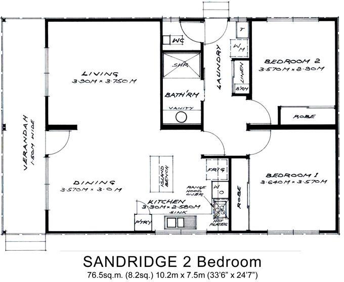 granny flat floor plans 2 bedrooms