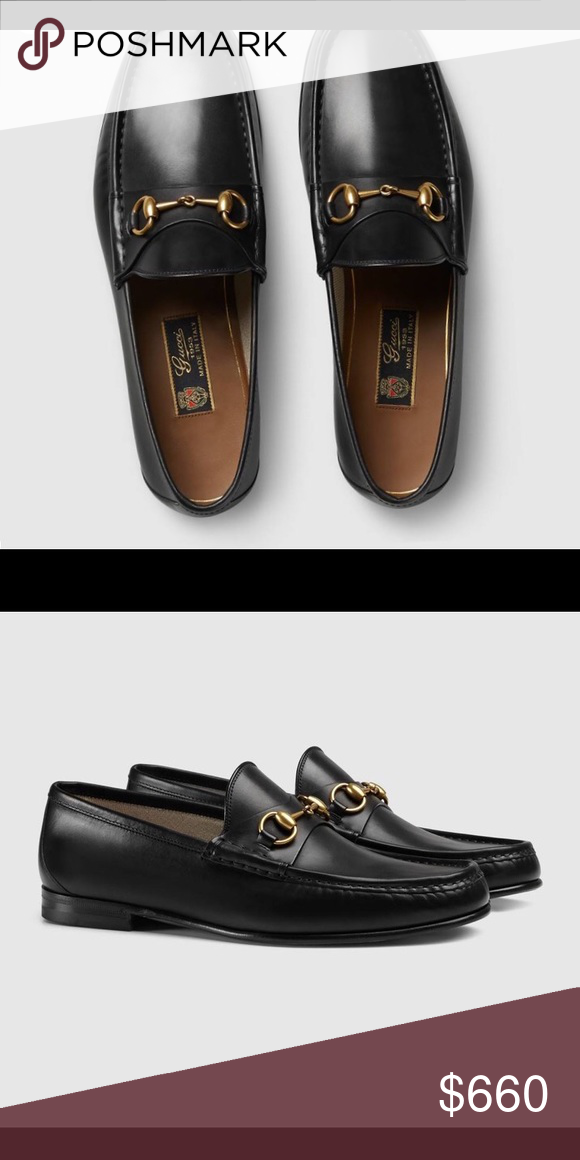 249cf74c2b Gucci Loafers They are the: classic, black leather, men's Gucci Loafer  (with brass horse bit,) size 7 (mens) in original box. Never worn, brand  new.