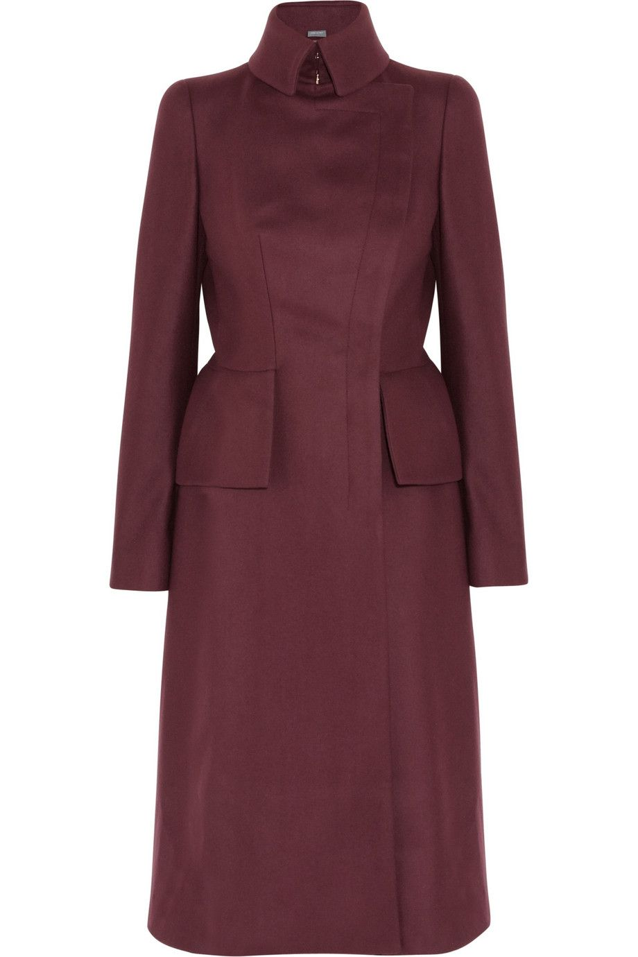 Alexander Mcqueen Wool and Cashmere Blend Felt Coat in Purple (bordeaux) | Lyst ; $4245