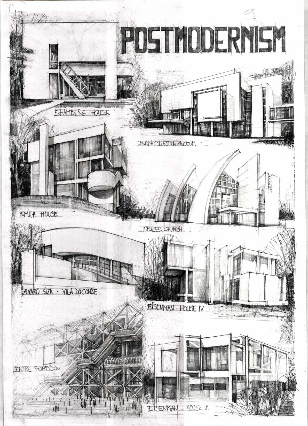 Scan167 architecture sketching coloured pinterest architektur visualisierung skizzen - Architektur skizzen zeichnen ...