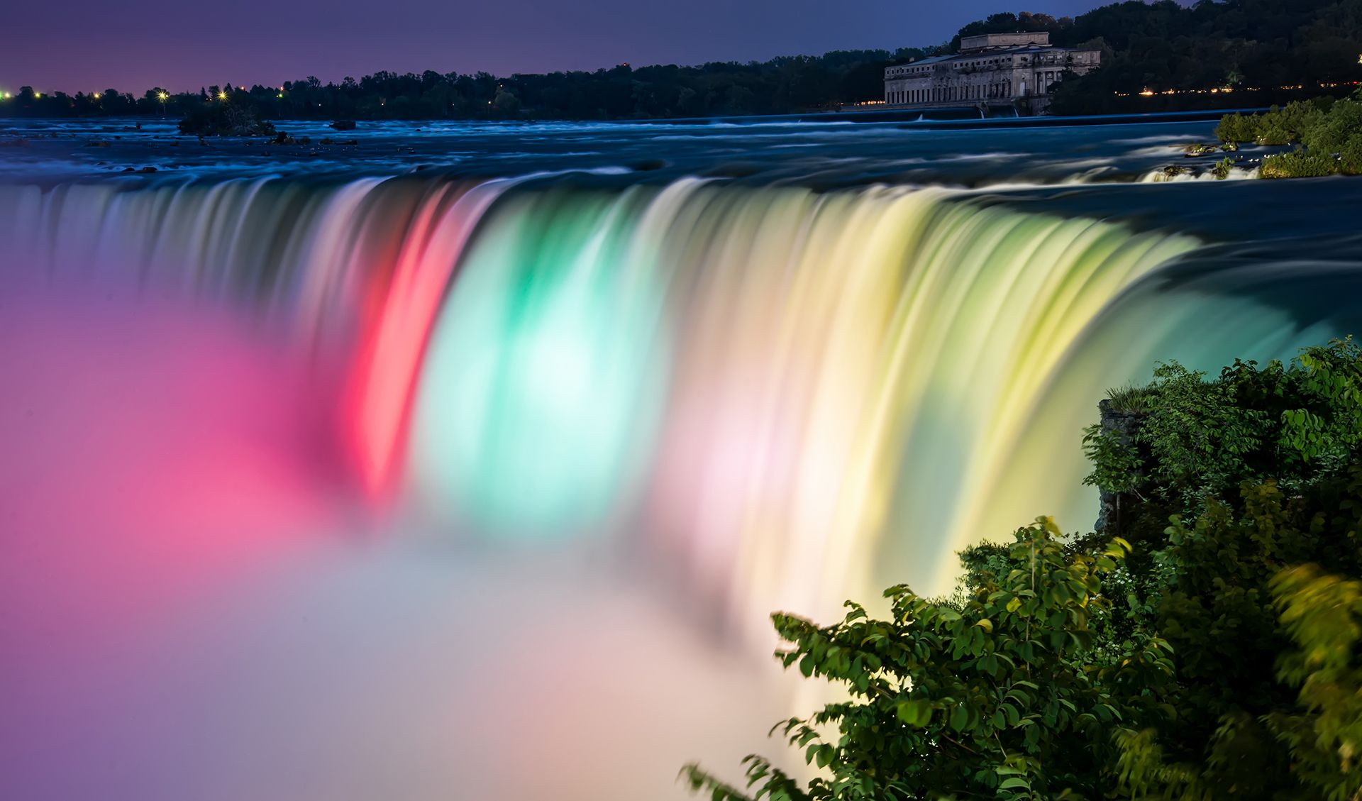 NIAGARA FALLS AT NIGHT GLOSSY POSTER PICTURE PHOTO ontario canada new york 1589