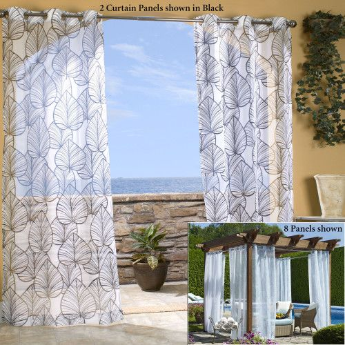 Sheer Patio Curtains Outdoor
