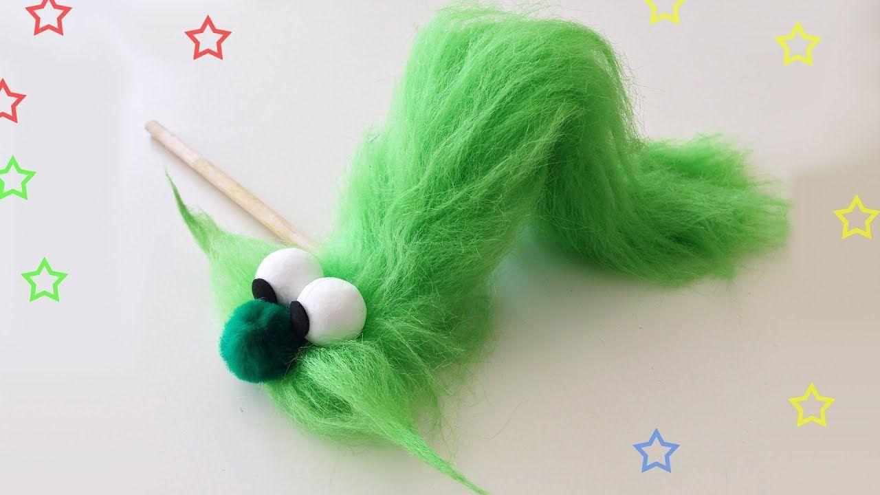 Como Hacer Untitere De Oruga Manualidades Para Todos Caterpillar Puppet Manualidades Oruga Titeres