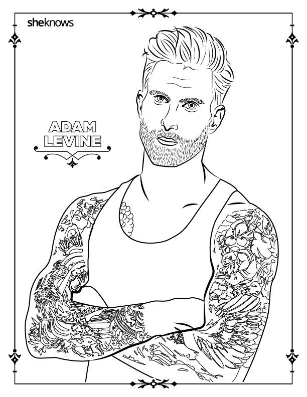 32 adult coloring book pages of Hollywood\'s hottest men (and they ...