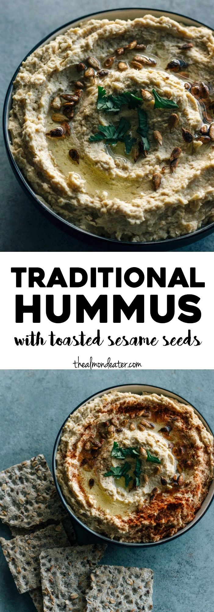 Traditional Hummus with Toasted Sesame Seeds | Recipe | Best Vegan Recipes! | Hummus, Hummus ...