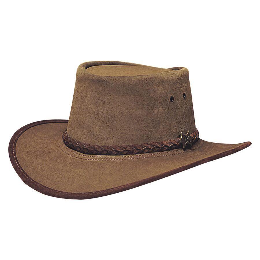 Australian Leather Hat with Braided Band Original Cow Boy Aussie Bush Hat
